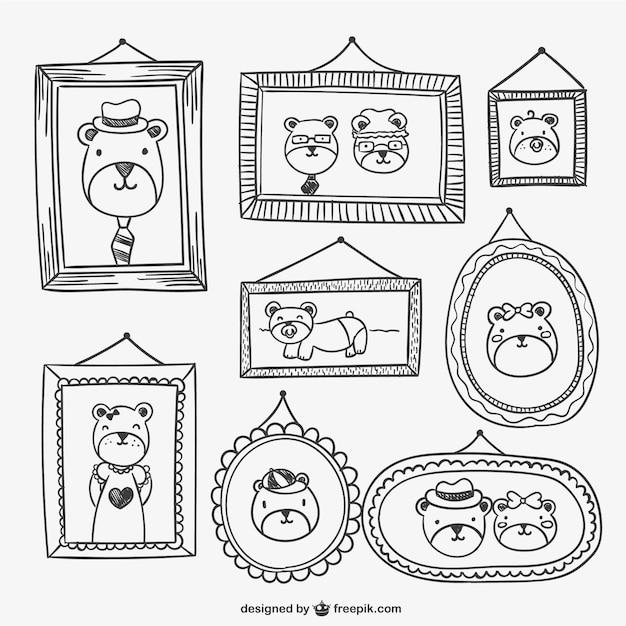 cadres et dessins portraits t l charger des vecteurs gratuitement. Black Bedroom Furniture Sets. Home Design Ideas