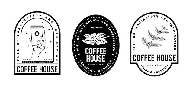 Café Logo Vintage Deisgn Vecteur Premium