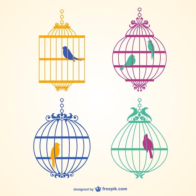 Cage à Oiseaux Vecteur Vecteur gratuit