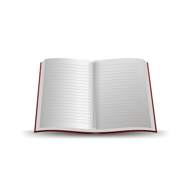 Cahier d'école isolé Vecteur Premium