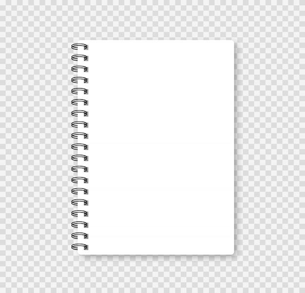 Cahier Réaliste Maquette Pour Votre Image. Illustration Vectorielle. Vecteur Premium