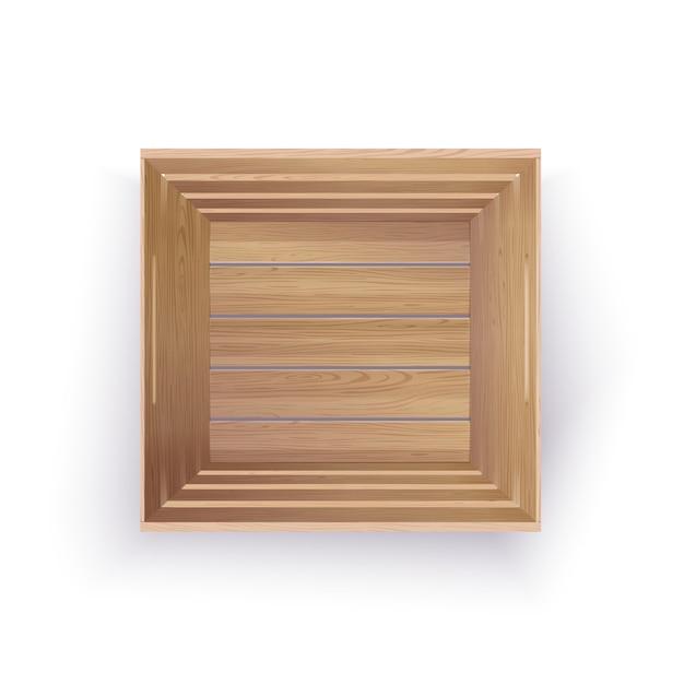 Caisse en bois vide Vecteur Premium