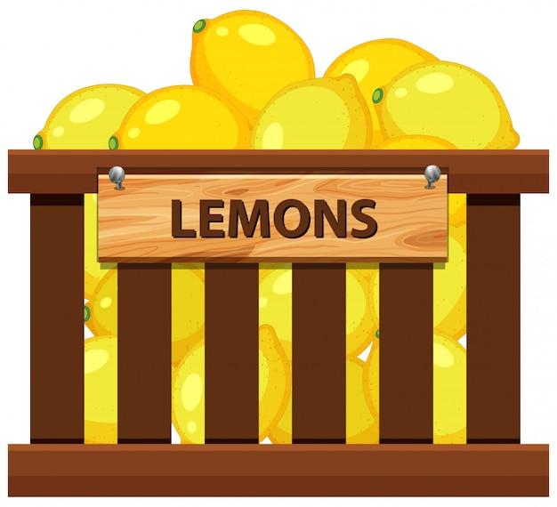 Une caisse de citron Vecteur Premium