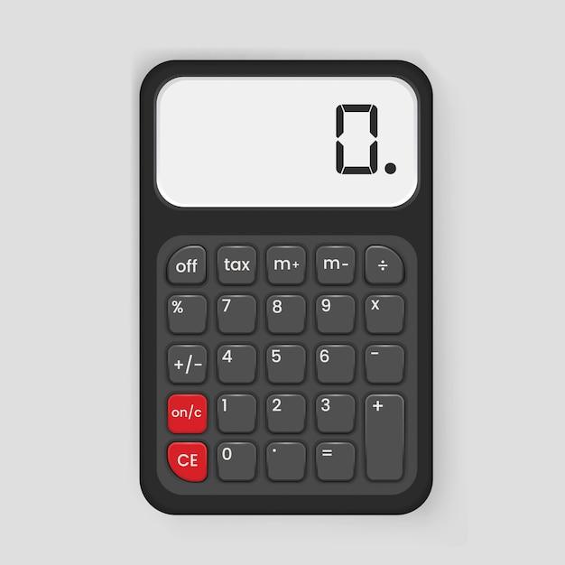 Calculatrice icône illustration Vecteur gratuit