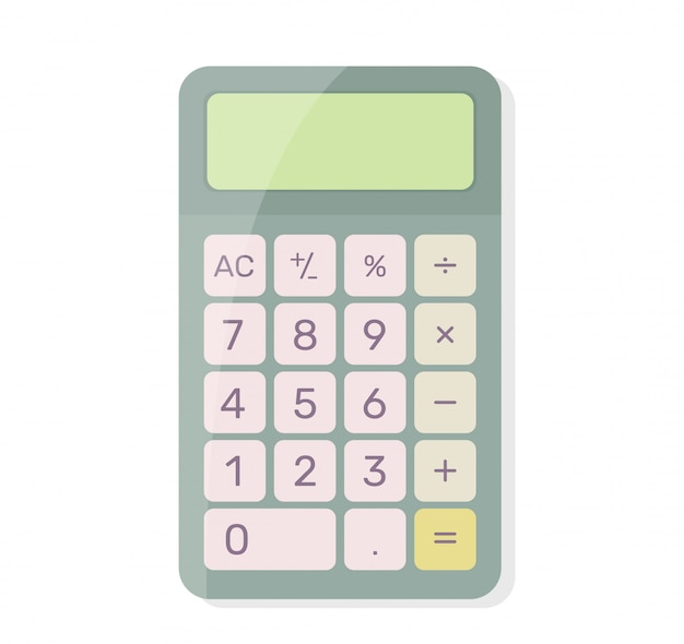 Calculatrice. Vecteur Premium