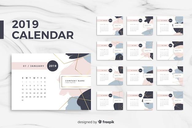 Calendrier 2019 Vecteur gratuit