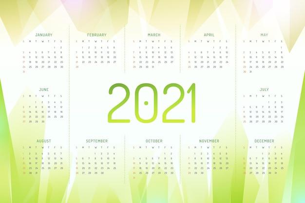 Calendrier Abstrait Nouvel An 2021 Vecteur Premium