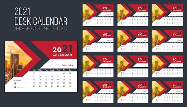 Calendrier De Bureau 2021 Premium, Calendrier De Bureau Pour 2021