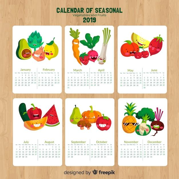 Calendrier Fruits Legumes.Calendrier De Fruits Et Legumes De Saison Telecharger Des