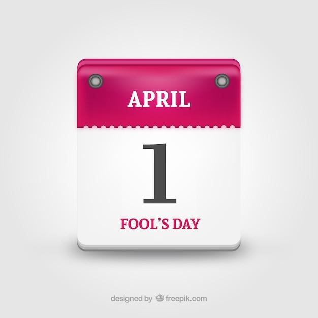 Le calendrier des jours de fool Vecteur gratuit