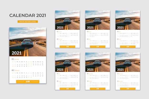 Calendrier Mural, Planificateur De Date Vecteur Premium