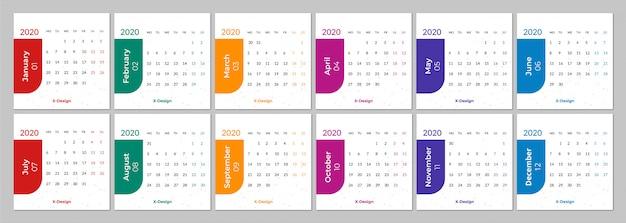 Calendrier Semaines 2020.Calendrier Pour La Semaine 2020 Commence Lundi Telecharger