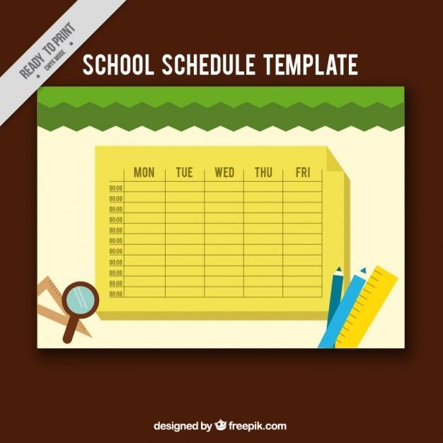 Calendrier Pour La Classe.Calendrier Scolaire Jaune Avec Des Articles Pour La Classe