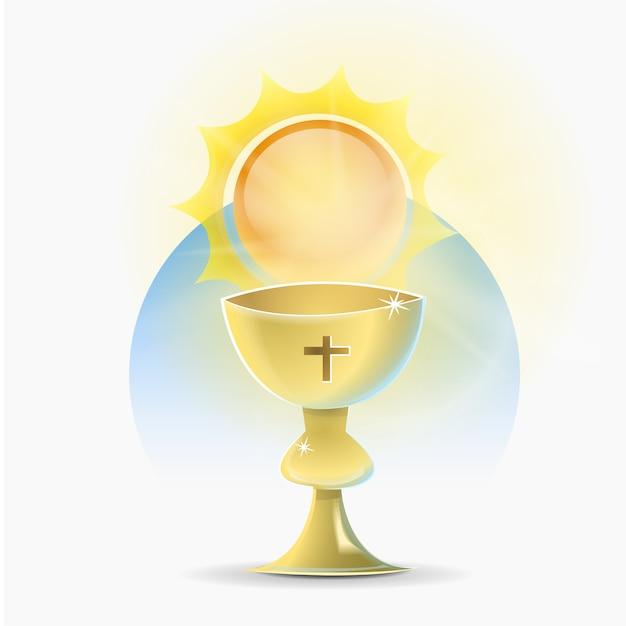 Calice, Saint, Chrétien, Religion Vecteur Premium