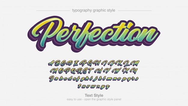 Calligraphie Audacieuse Dégradé Vert Clair D'été Vecteur Premium