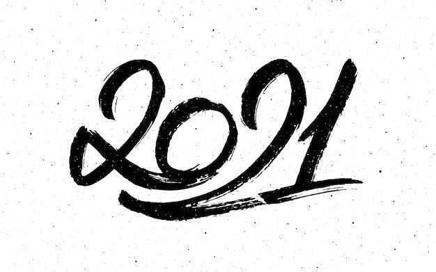 Calligraphie Pour Le Nouvel An Du Buffle 2021 Vecteur Premium