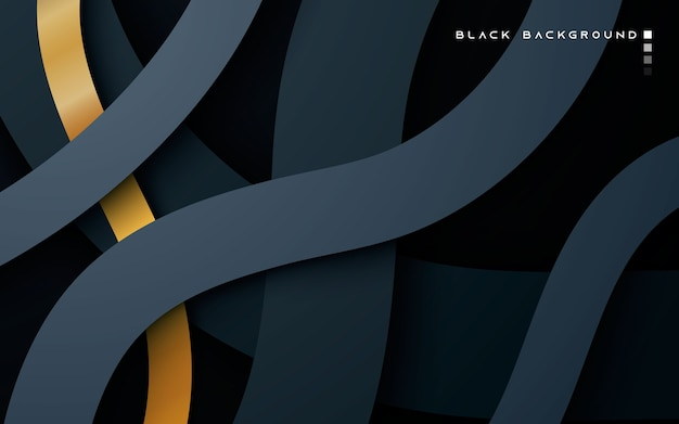 Calques De Chevauchement De Dimension Noire Sur Fond Sombre Vecteur Premium
