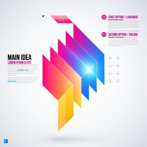Calques infographic template Vecteur gratuit