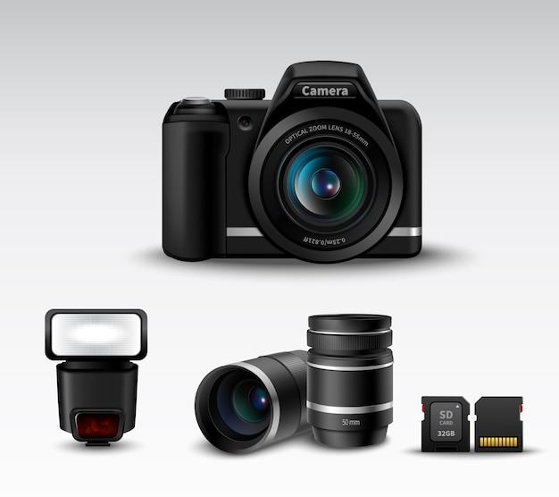 Caméra et accessoire Vecteur gratuit