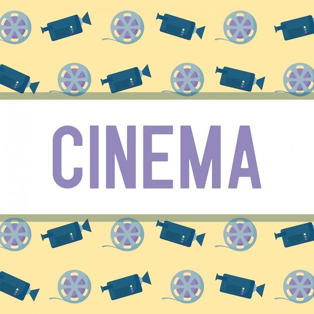 Caméra Avec Bande De Motif De Cinéma Vecteur Premium