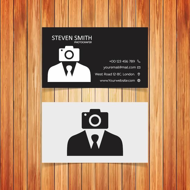 Camera Man Logo Carte De Visite Corporative Minimale Avec Couleur