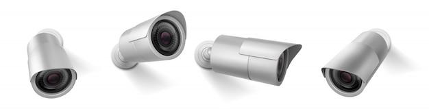 Caméra De Sécurité, équipement Sans Fil De Caméra Vidéo Cctv Vecteur gratuit