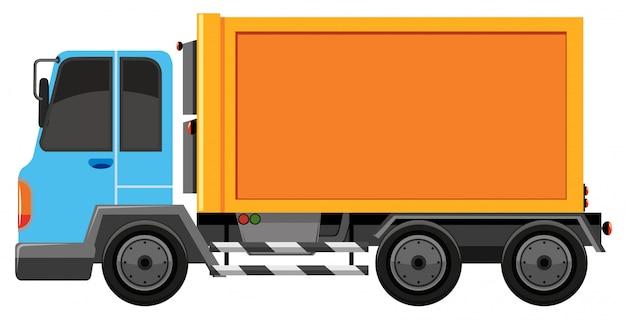 Camion bleu et orange isolé Vecteur gratuit