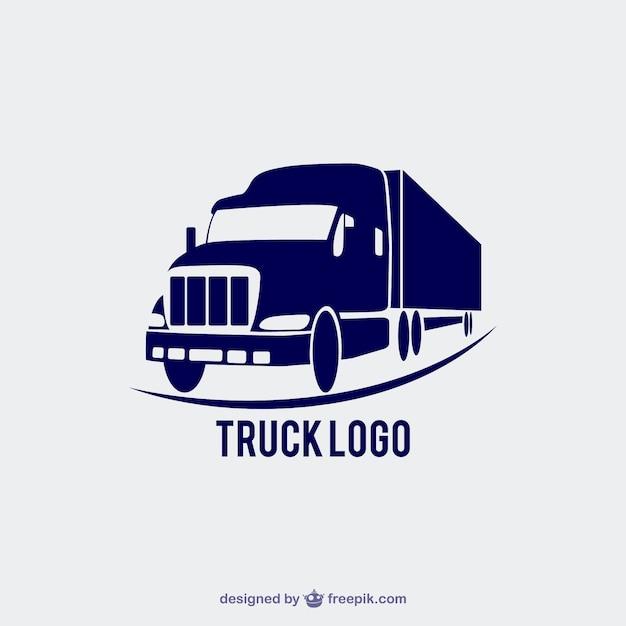 Camion logo Vecteur gratuit