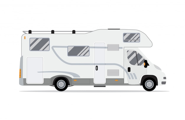 Camion Mobile Home Rv. Vecteur Premium