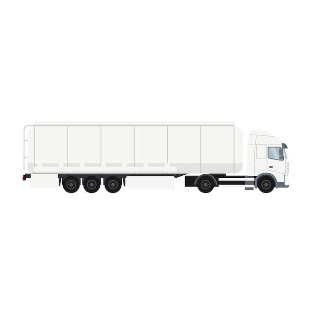 Camion remorque avec citerne Vecteur Premium