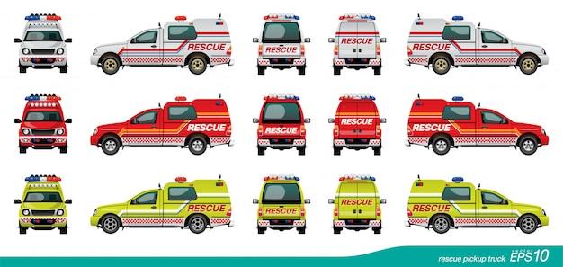 Camion de sauvetage Vecteur Premium