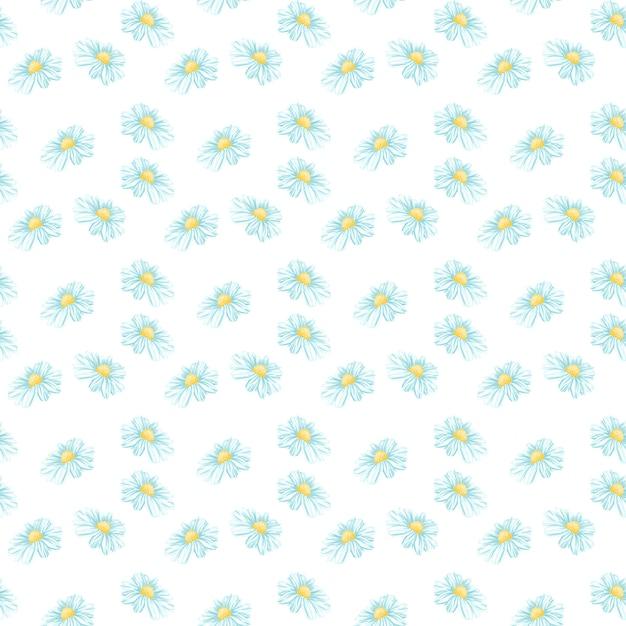 Camomille ou daisy seamless pattern Vecteur gratuit