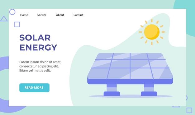 Campagne Solaire De Cellule De Panneau D'énergie Solaire Pour Le Site Web Vecteur Premium