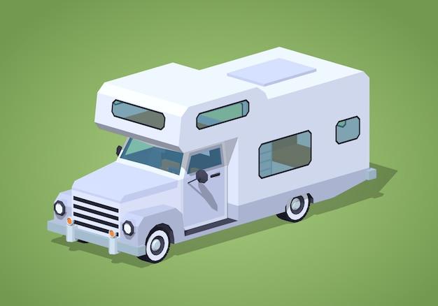 Camping-car Blanc Vecteur Premium