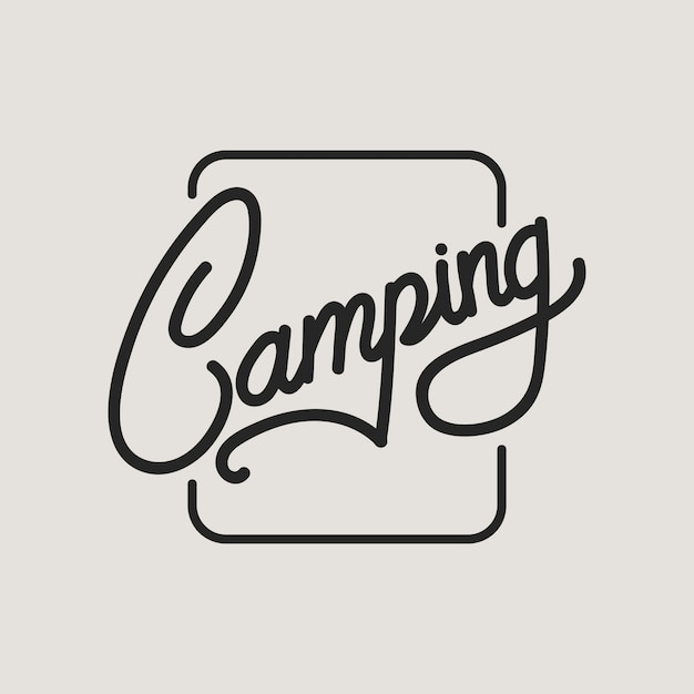 Camping Vecteur gratuit