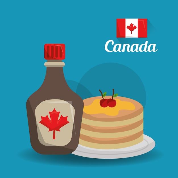 Canada Pays Américain Nourriture Vecteur Premium