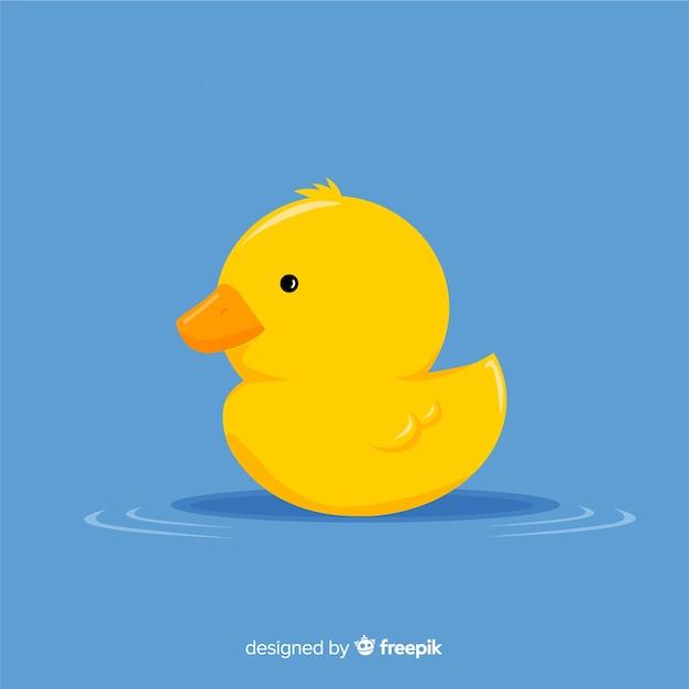 Canard en caoutchouc jaune Vecteur gratuit