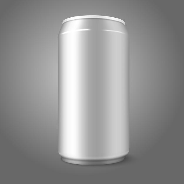 Canette En Aluminium Vierge, Pour Différents Modèles De Bière Vecteur Premium