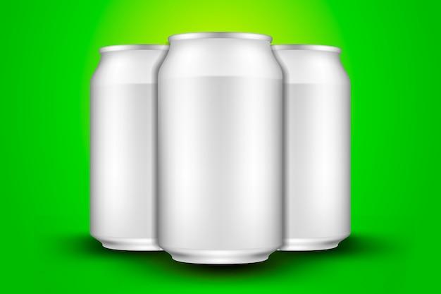 Canette De Bière Courte Vecteur Premium
