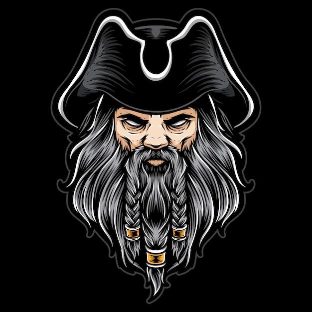 Capitaine de pirates Vecteur Premium