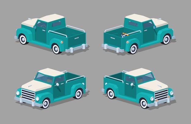 Capteur isométrique 3d rétro turquoise Vecteur Premium