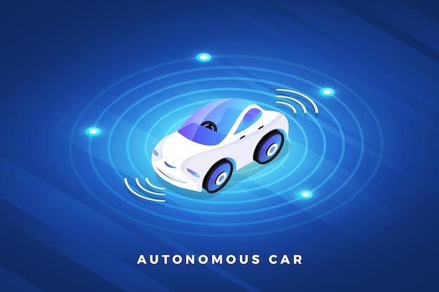 Capteurs Automobiles Autonomes Autonomes Technologie De Véhicule Sans Conducteur De Voiture Intelligente Vecteur Premium