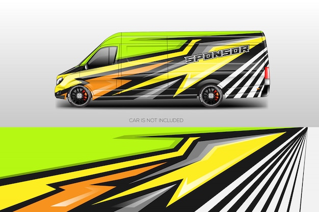 Car wrap designs vectoriels Vecteur Premium