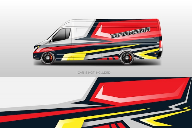 Car wrap designs vectoriels Vecteur Premium