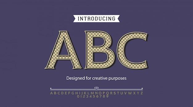 Caractère Abc.pour étiquettes Et Différents Types Vecteur Premium