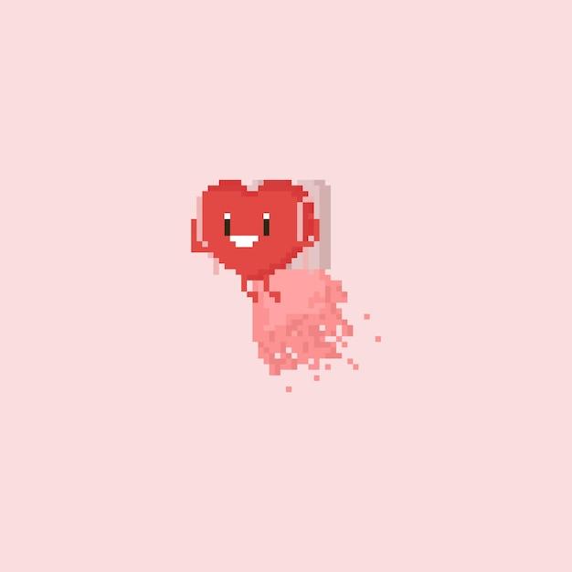 Caractère de coeur pixel pack het Vecteur Premium