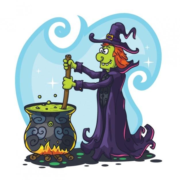 Caract re de sorci re fantasmagorique de potion magique t l charger des vecteurs gratuitement - Jeux de sorciere potion magique gratuit ...