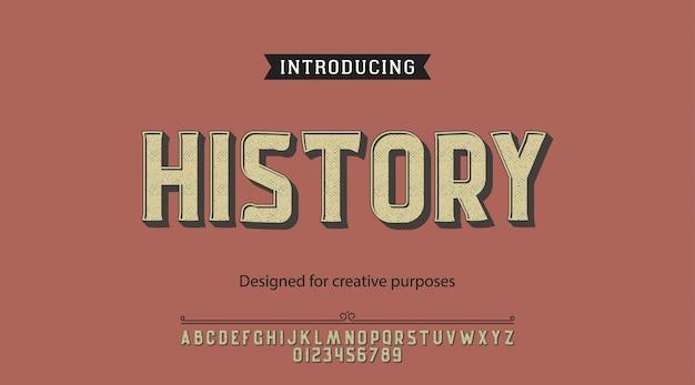 Caractère D'histoire.pour étiquettes Et Différents Types Vecteur Premium