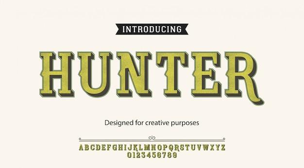 Caractère Hunter.pour étiquettes Et Différents Types Vecteur Premium