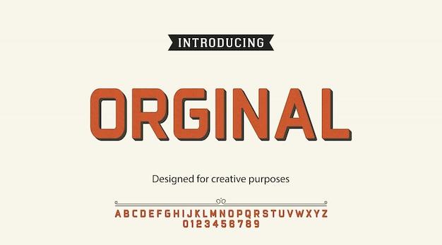 Caractère Original.pour étiquettes Et Différents Types Vecteur Premium